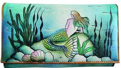 mermaid leather wallet