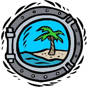 Looking at palm tree clipart through porthol