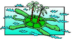 Palm tree clipart on turtl