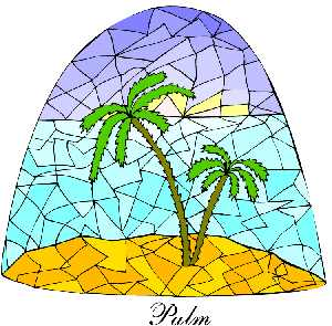 Palm tree clipart under dom