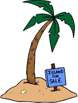 Palm tree clipart - Island for sale sig