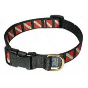 Scuba diving flag pet collar dog collar