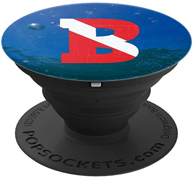 scuba diving PopSocket Letter b