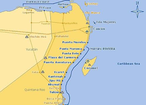 Riviera Maya Maps Its Not Near France