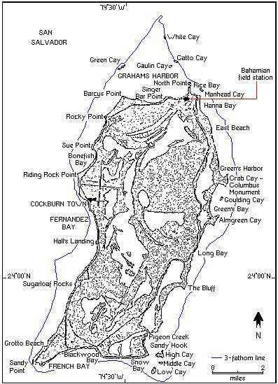 map of san salvador bahamas