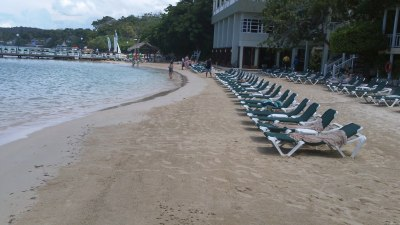 Beach in front of Riviera building