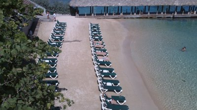 Beach in front of Riviera Building, Sandals Grande