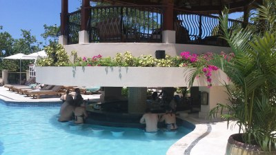 Riviera building swim-up bar, Sandals Grande Riviera, Jamaica