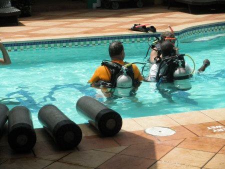 Resort scuba diving course at Sandals Monego Bay, Jamaica