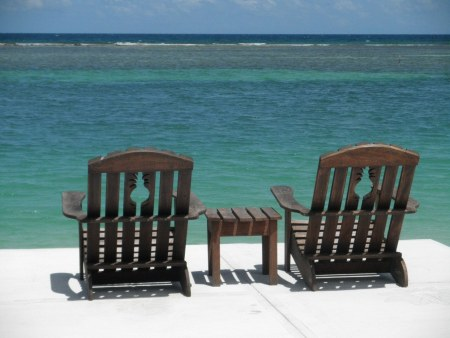 Beach chairs in Jamaica