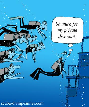 scuba diving cartoon; scuba humor