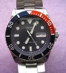 A scuba diving watch with bezel.
