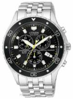 A chronograph scuba diving watch.
