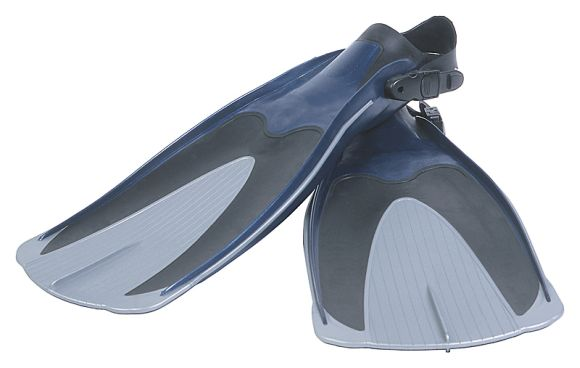 A pair of open heeled scuba diving fins