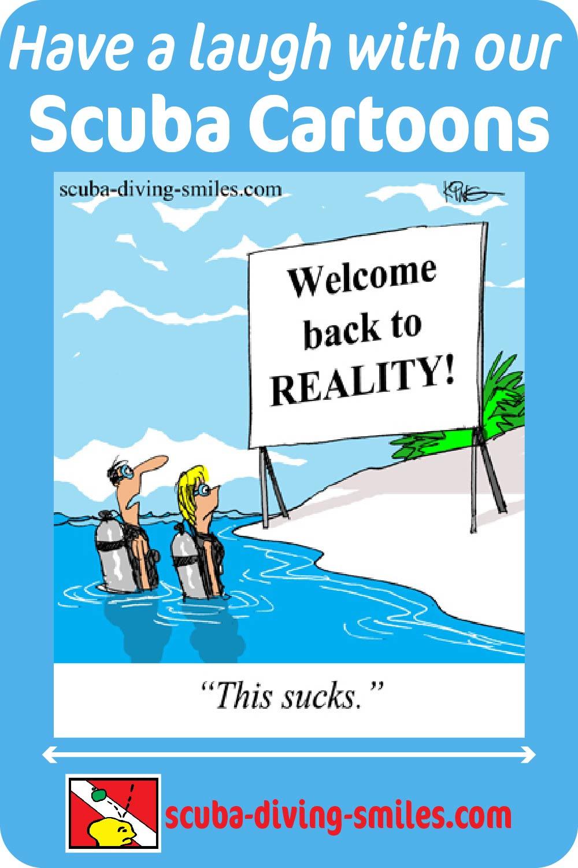 Scuba diving cartoons. scuba humor