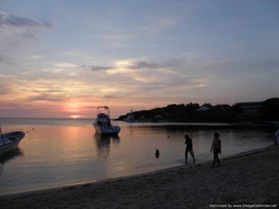 Sunset from Sundowners Bar, Roatan