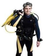 Scuba diver with gea