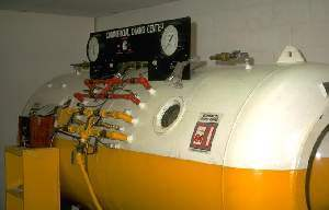 A dive recompression chamber