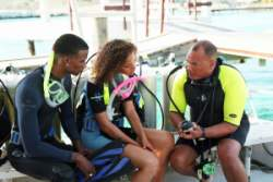 Taking a dive class for safe diving