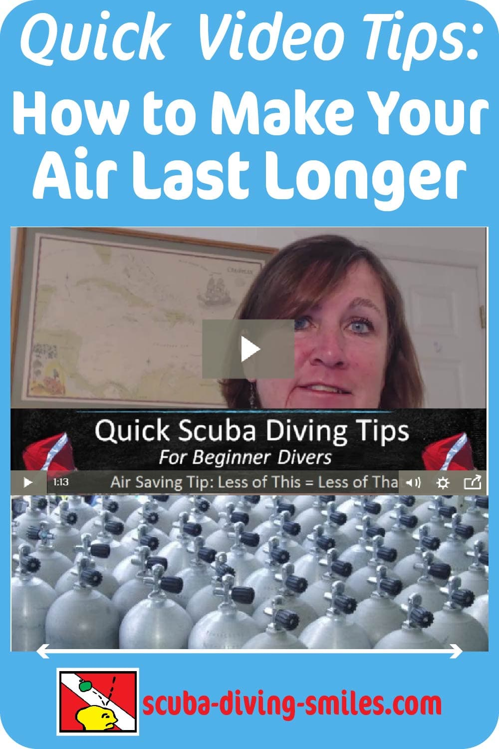 Scuba diving video tips on air consumption