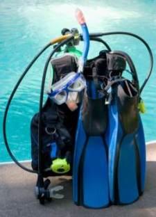 scuba gear setup