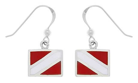 dive fin dangling earrings