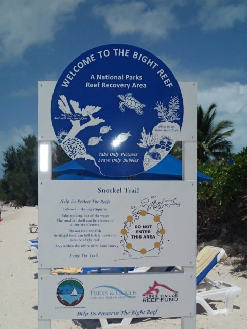 Snorkel trail off of Grace Bay, Turks and Caicos