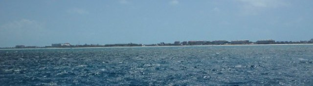 Approaching Grace Bay, Providenciales in the Turks and Caicos
