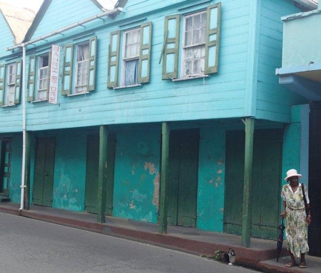 Street scene in St. John's, Antigua