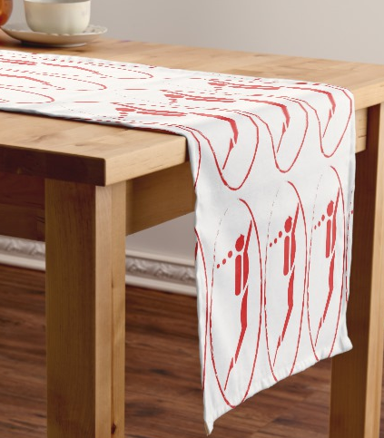Table runner with scuba diver