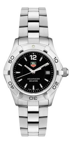 Tag Heuer women's dive watch black face