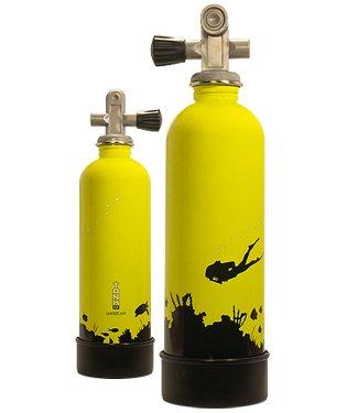 water bottle dive tank