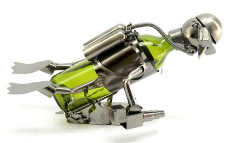 scuba diving wine caddy