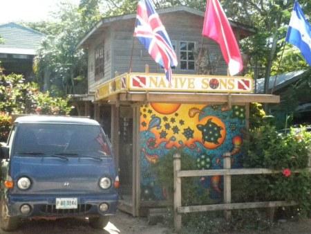 Native Son Scuba diving shop in West End, roatan