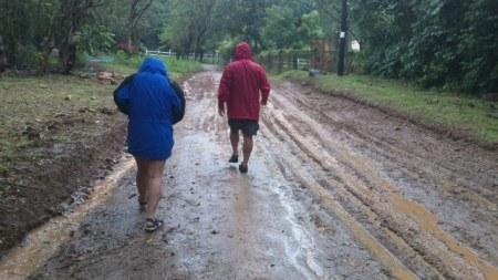 rainy weather on roatan hondursas