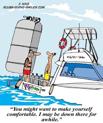Scuba diving cartoon #1 - Kind of like a hooka