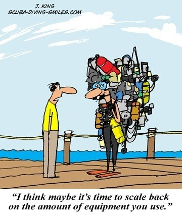 scuba diving cartoon
