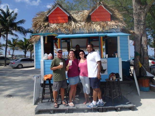 Cart off of Arawak Caye in Nassau, Bahamas