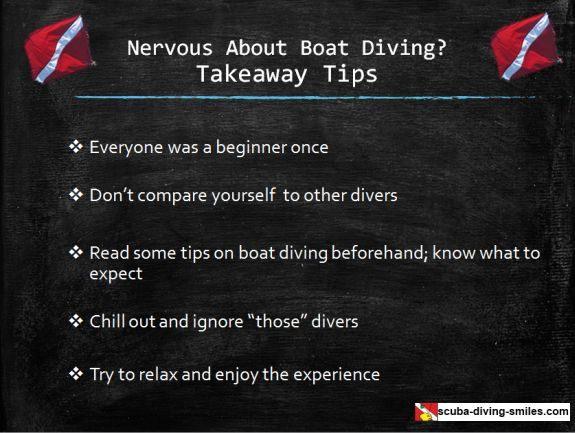 Boat diving tips
