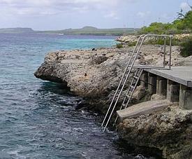 bonaire diving - oil slick leap dive site