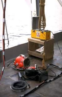 Commercial dive equipment for a dive job