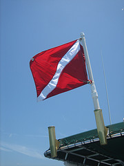 Scuba diving flag - diver down