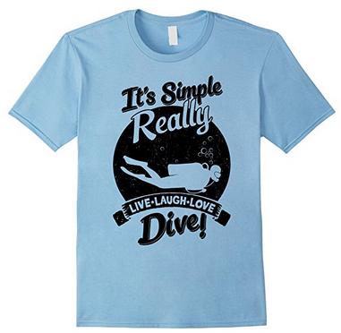 scuba diving tee shirt