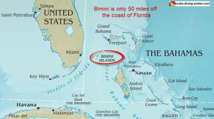 Map of Bimini, Bahamas