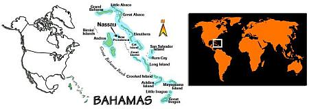 Map of Bimini, Bahamas in the world
