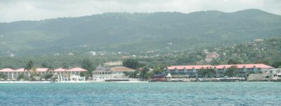 View of Sandals Montego Bay Jamaica from water