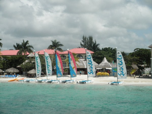 Sandals Montego Bay, Jamaica - Hobie cats included in all inclusive price