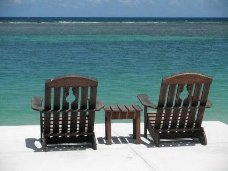 Beach chairs in Jamaica
