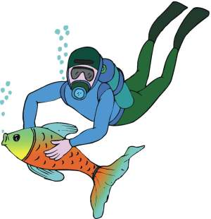 Scuba Clipart - Fun Diving Pictures For The Diver In You