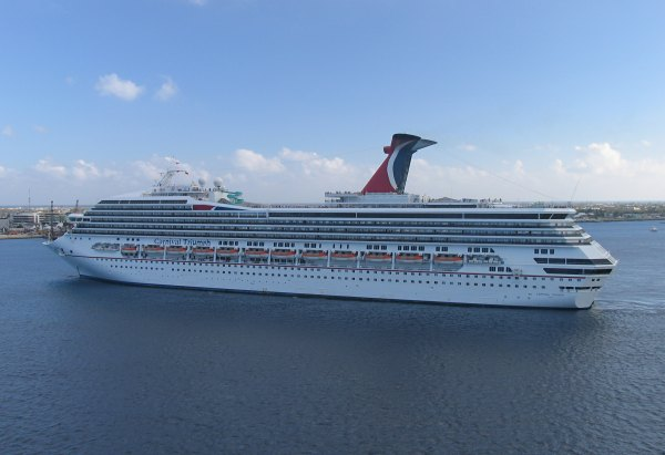 Cruise ship pulling into port